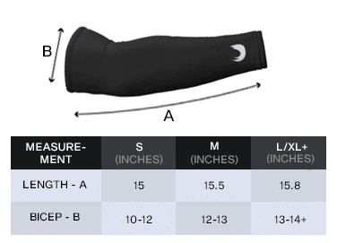 FastFall Gaming Sleeve Sizing Guide